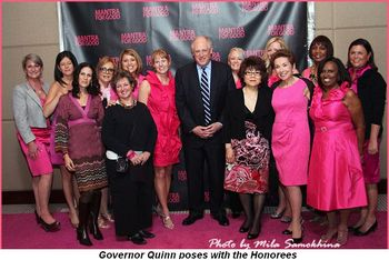 Blog 1 - Governor Quinn poses with the Honorees