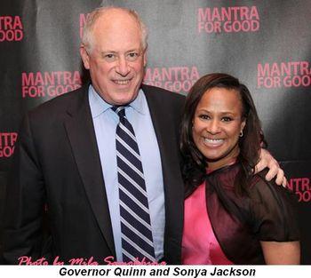 Blog 2 - Governor Quinn and Sonya Jackson