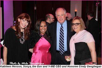 Blog 4 - Kathleen Henson, Sonya, the Guv and Y-ME CEO and Honoree Cindy Geoghegan