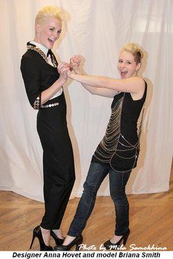 Blog 4 - Designer Anna Hovet having fun with model Briana Smith