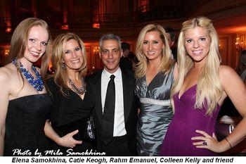 Blog 12 - Elena Samokhina, Catie Keogh, Rahm Emanuel, Colleen Kelly and friend