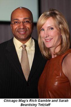 Blog 9 - Chicago Mag's Rich Gamble and Sarah Beardsley Tetzlaff