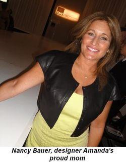 Blog 10 - Nancy Bauer, designer Amanda's proud mom