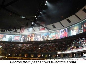 Blog 5 - Photos from past shows filled the arena