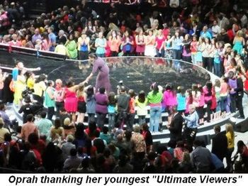 Blog 11 - Oprah thanking her youngest Ultimate Viewers