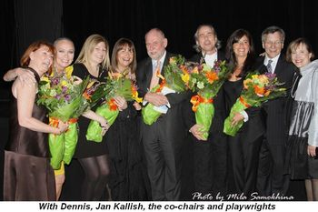 Blog 2 - With Dennis, Jan Kallish, co-chairs and playwrights