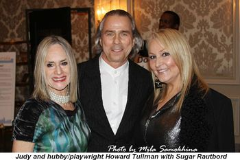 Blog 9 - Judy and hubby playwright Howard Tullman with Sugar Rautbord