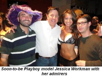 Blog 4 - Soon-to-be-Playboy model, Jessica Workman, with admirers