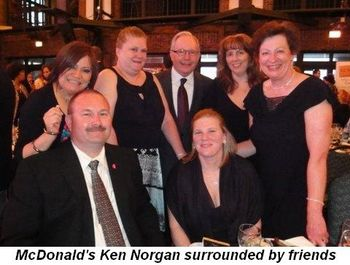 Blog 2 - McDonald's Ken Norgan surrounded by friends