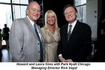 Blog 2 - Howard and Laura Sims with Rick Segal (Managing Dir. Park Hyatt Chicago)