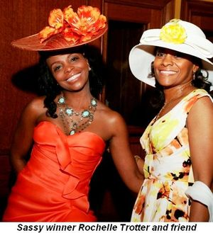 Blog 3 - Sassy winner Rochelle Trotter and friend