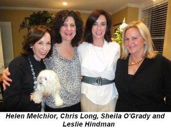 Blog 1 - Helen Melchior, Chris Long, Sheila O'Grady and Leslie Hindman
