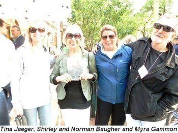 Blog 2 - Tina Jaeger, Shirley and Norman Baugher and Myra Gammon