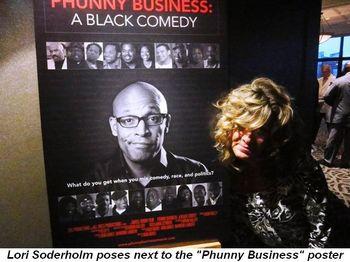 Blog 3 - Lori Soderholm poses next to movie poster