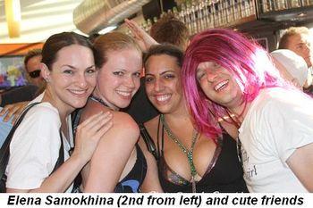 Blog 8 - Elena Samokhina (2nd from L) and cute friends