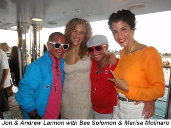 Blog 2 - Jon and Andrew Lannon with Bee Solomon and Marisa Molinaro