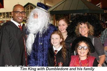 Blog 8 - Tim King with Dumbledore and his family