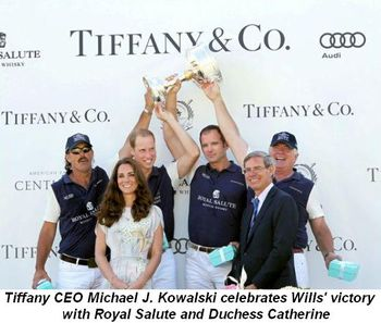 Blog 1 - Michael J. Kowalski, CEO of Tiffany, celebrates Will's victory with Duchess and his team Royal Salute
