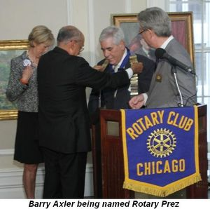 Blog 1 - Barry Axler being name Rotary Prez