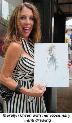 Blog 3 - Maralyn Owen with her Rosemary Fanti drawing