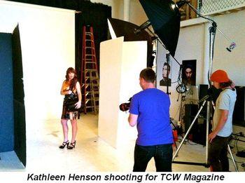 Blog 1 - Kathleen Henson shooting for TCW Magazine