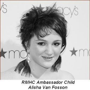 Blog 25 - RMHC Ambassador Child Alisha Van Fosson