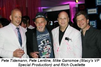 Blog 5 - Pete Tidemann, Pete Lentine, Mike Gansmoe (Macy's VP Special Production), Rich Ouellette