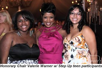 Blog 1 - Honorary Chair Valerie Warner with Step Up teen participants