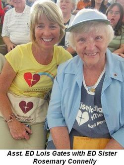 Blog 2 - Asst. ED Lois Gates with ED Sister Rosemary Connelly