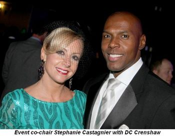 Blog 4 - Event co-chair Stephanie Castagnier with DC Crenshaw