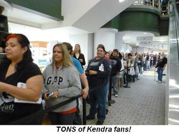 Blog 4 - Tons of Kendra fans!