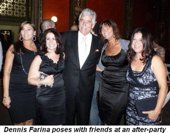Blog 6 - Dennis Farina poses with fans at after-party