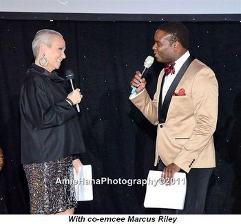 Blog 13 - With co-emcee Marcus Riley