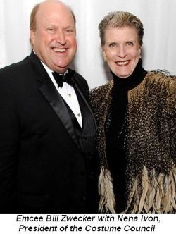 Blog 3 - Emcee Bill Zwecker with Nena Ivon, Pres. of Costume Council