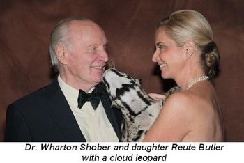 Blog 4 - Dr. Wharton Shober, a cloud leopard and daughter Reute Butler