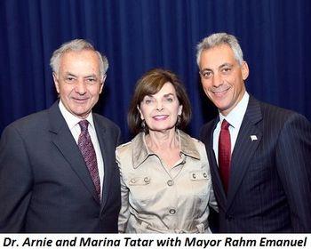 Arnie and Marina Tatar with the Mayor