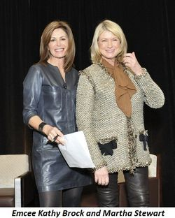 Blog 5 - Emcee Kathy Brock and Martha Stewart