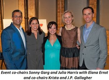 Blog 1 - Event co-chairs Sonny Garg and Julia Harris, Elana Ernst, co-chairs Krista and J.P. Gallagher
