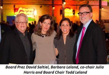 Blog 4 - Board Prez David Saltiel, Barbara Leland, co-chair Julia Harris and Board Chair Todd Leland