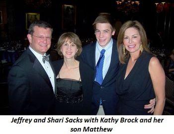 Blog 5 - Jeffrey and Shari Sacks with Matthew and his mom Kathy Brock