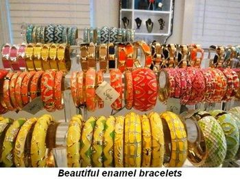 Blog 5 - Beautiful enamel bracelets