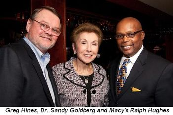 Greg Hines, Dr. Sandy Goldberg and Macy's Ralph Hughes