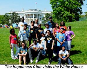 Blog 1 - The Happiness Club visits the White House