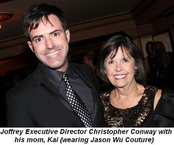 Blog 2 - Joffrey Executive Director Christopher Conway and his mom, Kai (In Jason Wu Couture)