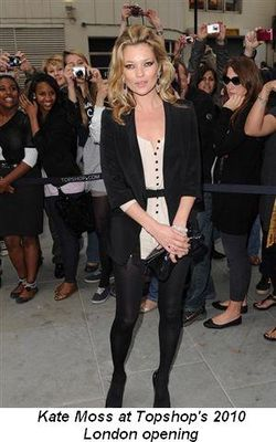 Blog 6 - Kate Moss at Topshop's 2010 London opening
