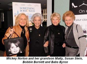 Blog 4 - Mickey Norton, grandson matty, susan stein, bobbie burnett, babs byron