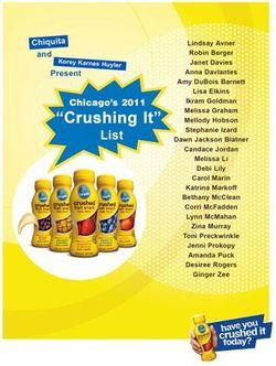 Crushing It List