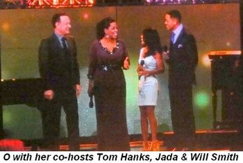 Blog 16 - O with co-hosts Tom Hanks, Will and Jada Smith