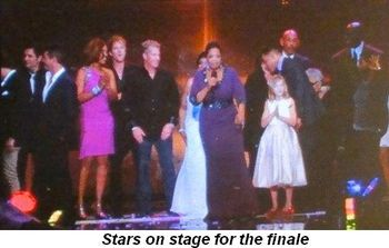 Blog 32 - Stars onstage for finale