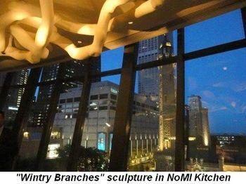 Blog 7 - Wintry Branches sculpture in NoMI Kitchen
